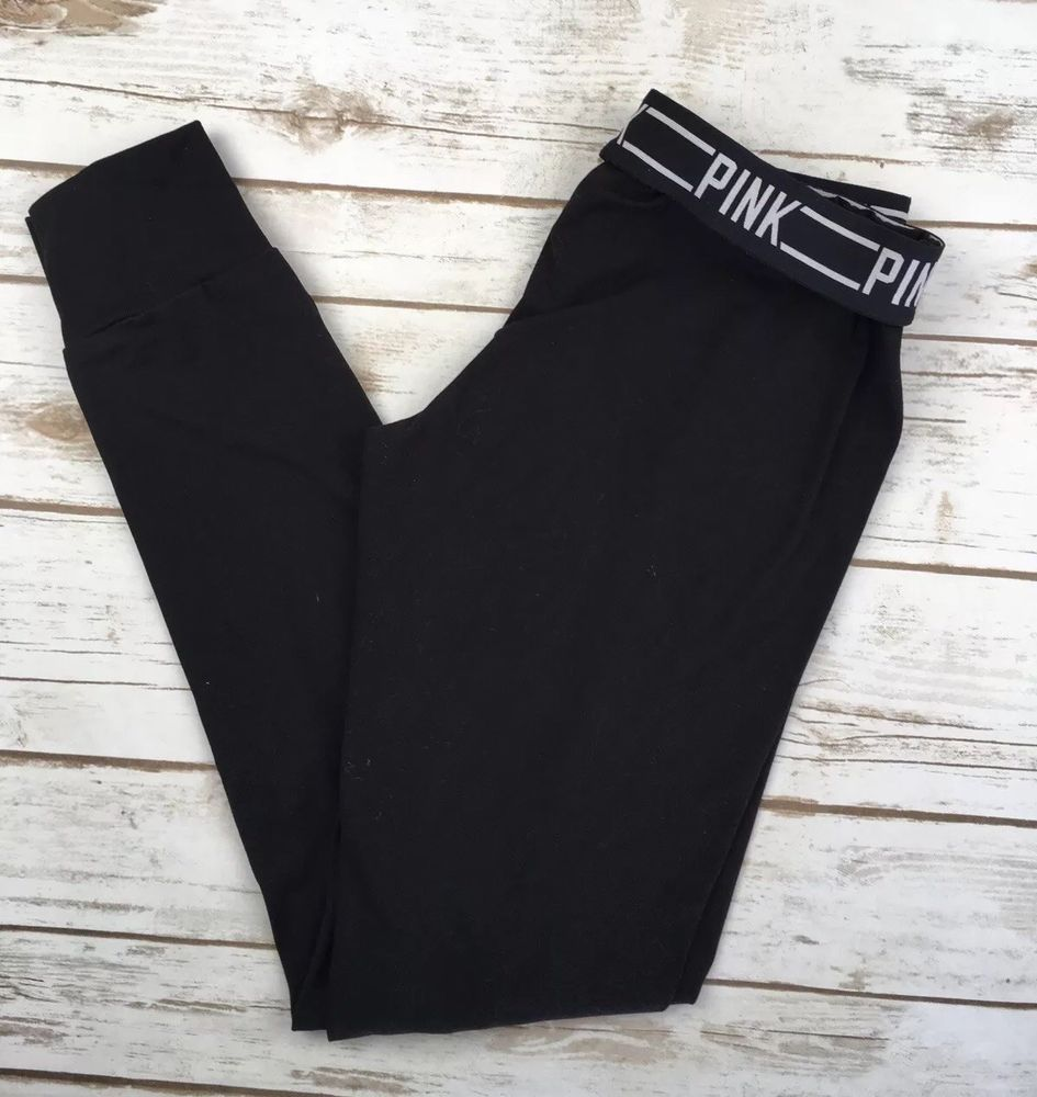 9df972c504add Victorias Secret Pink Ultimate Jogger Black Gym Yoga Pants Stretch ...