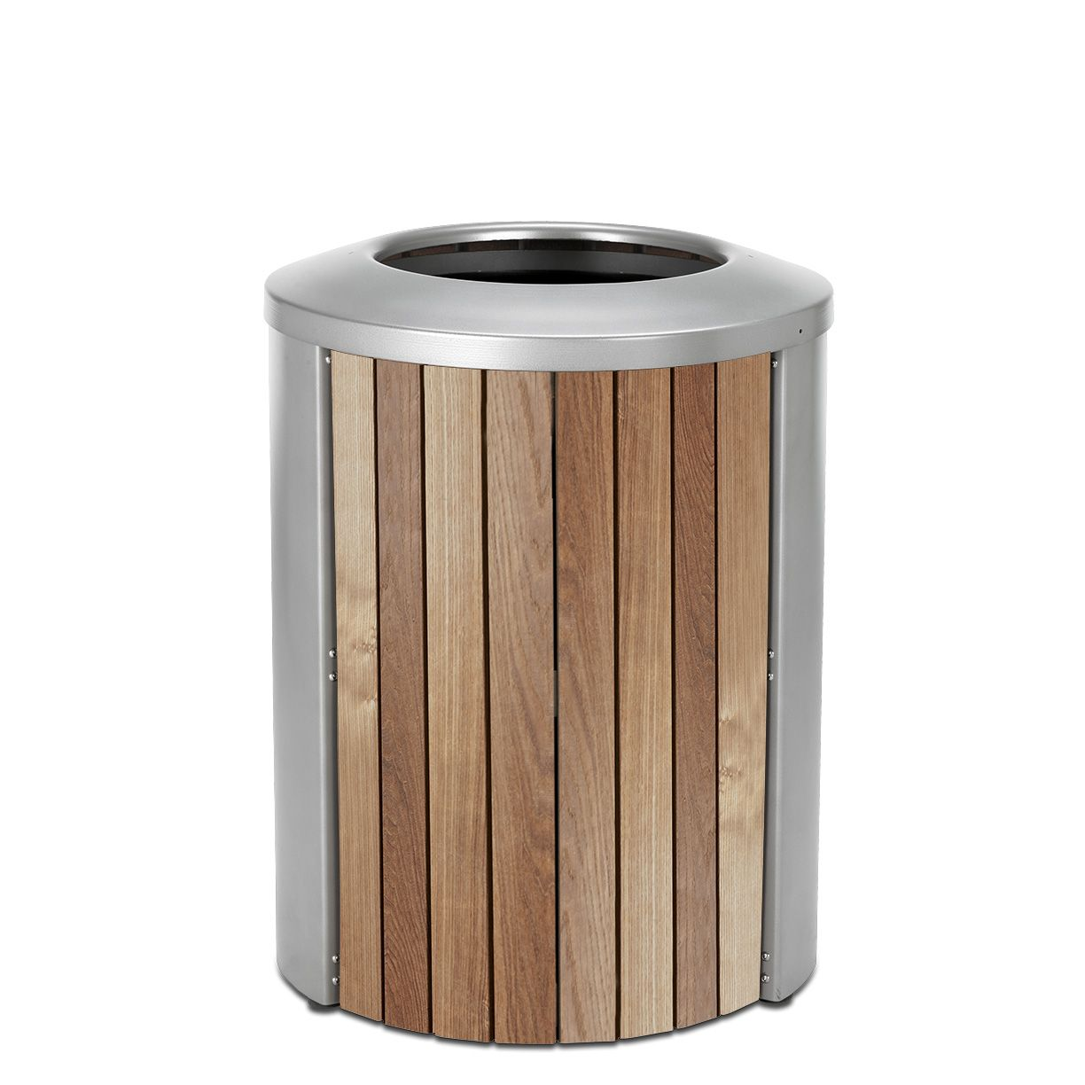 Madison 35 Gal Thermory Trash Receptacle, Open Top
