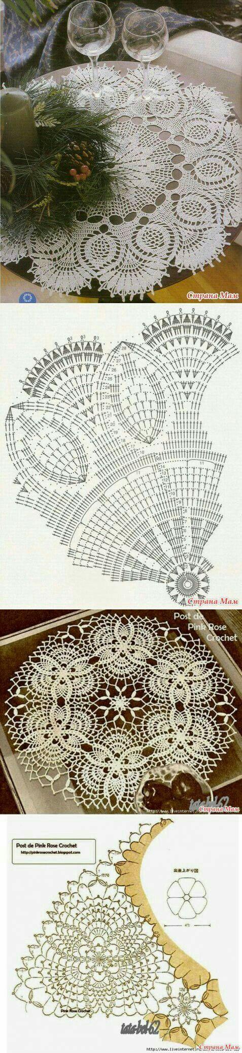 Pin von Vandana Verma auf crochet design | Pinterest | Deckchen ...