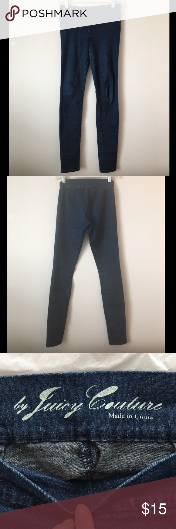 Juicy Couture Jeggings Denim jeggings in stretchy material so very comfortable. Worn but in good condition. Juicy Couture Jeans Skinny