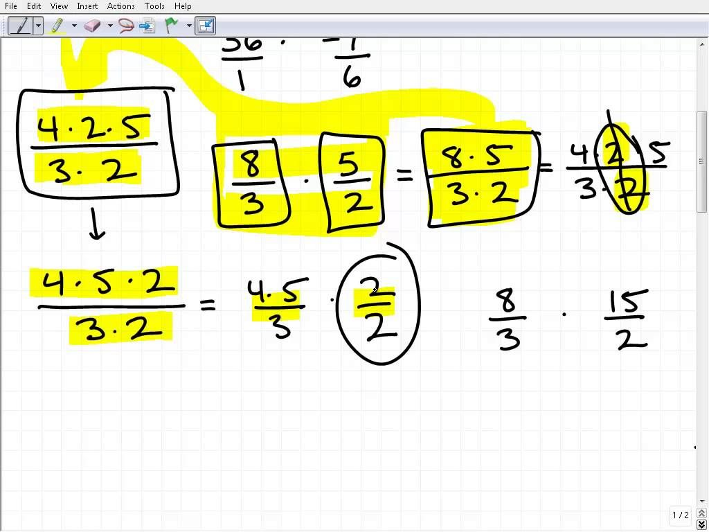 How To Cross Cancel Fractions