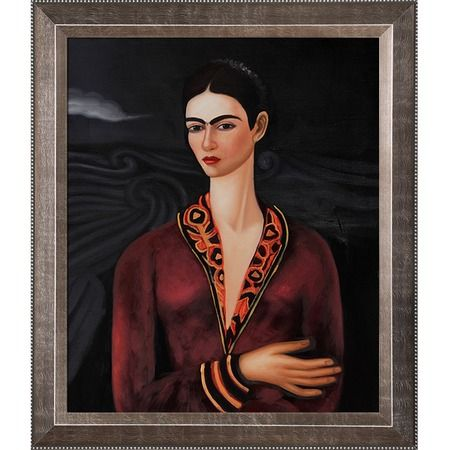 I Pinned This Self Portrait In A Velvet Dress By Frida Kahlo From The Museum Collection Event At Joss And Main Art Oil Painting Gallery Frida Kahlo