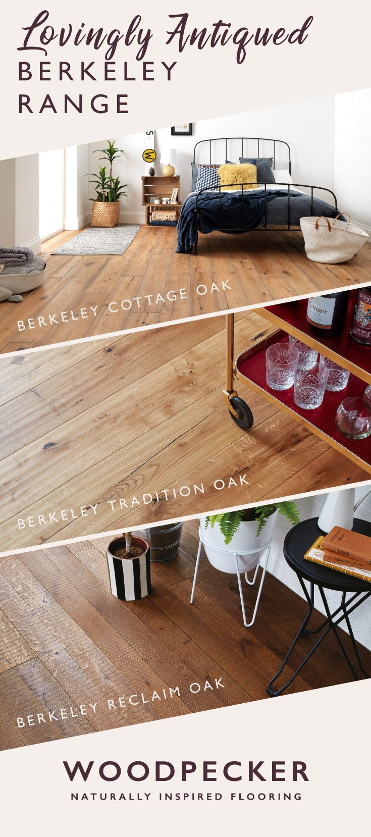 Discover lovingly aged and distressed wood floors in the