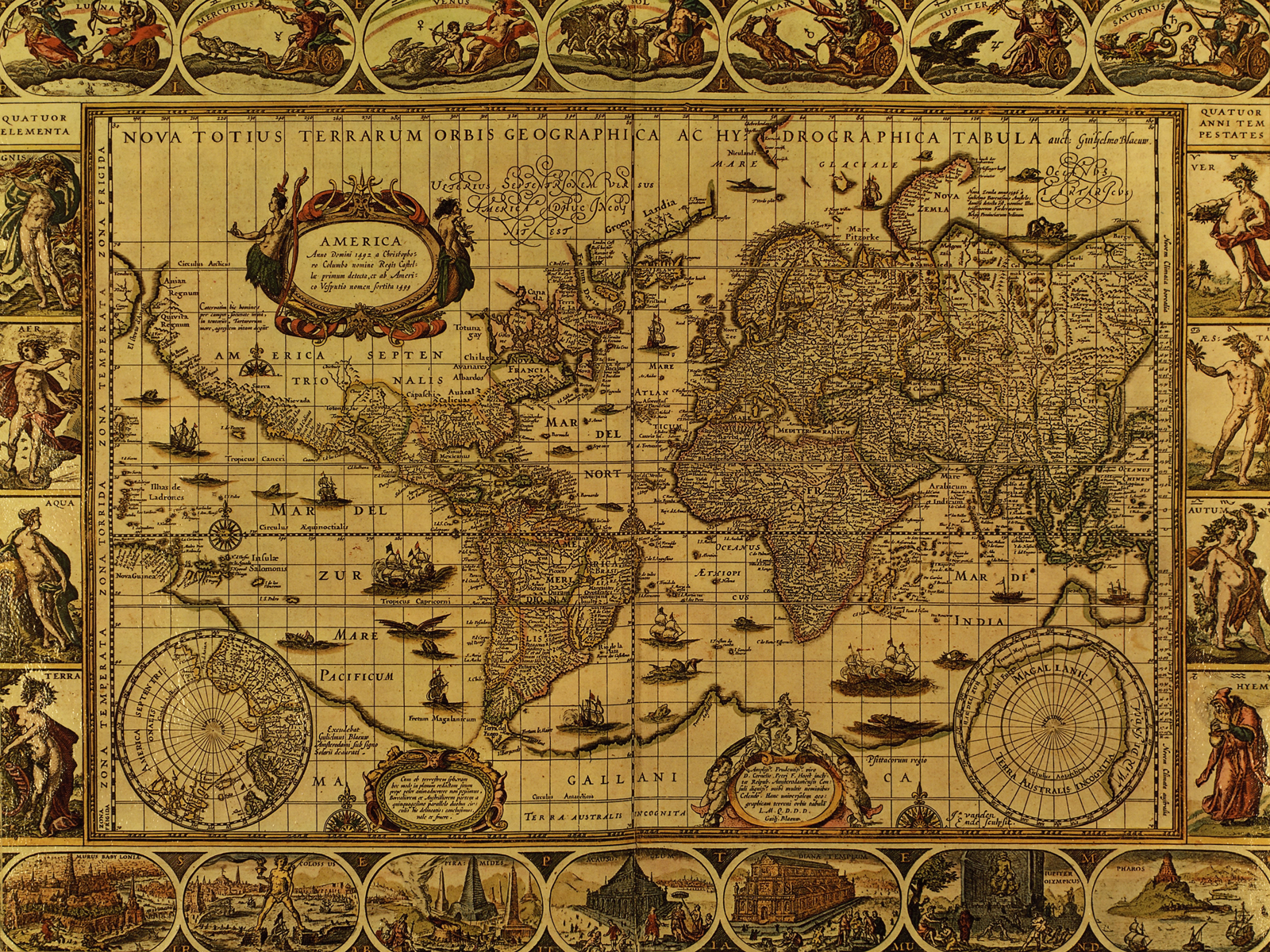 World map circa 1490s majority of inland north america world map circa 1490s majority of inland north america undiscovered also australia only on gumiabroncs Gallery