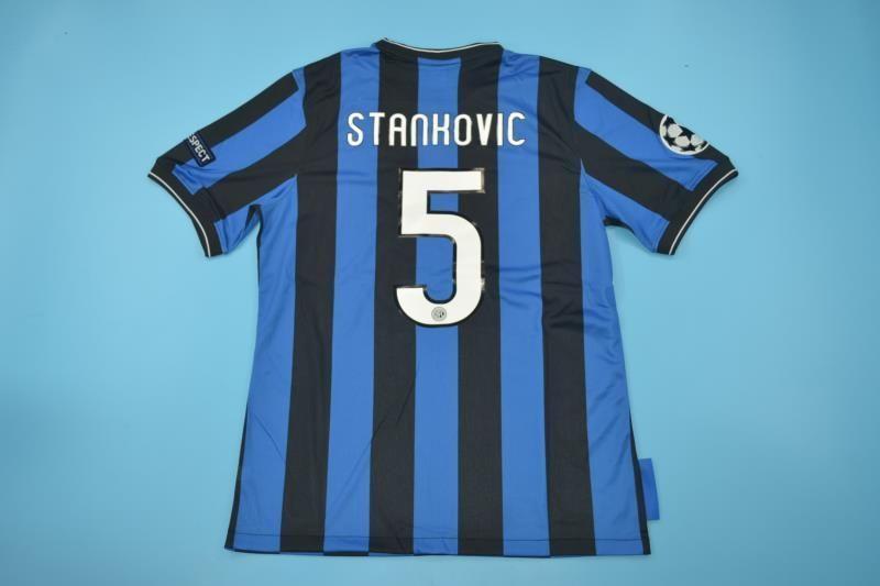 Inter Milan Football club Nike Home 2010  Stanković 5  FÚTBOL SOCCER ... b1b3d7320