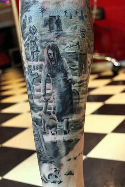 Zombie Tattoo By Mirek Vel Stotker Rat A Tat Tat Style Zombie