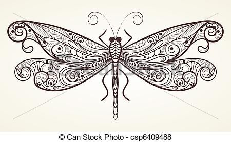 drawings of dragonflies - Google Search