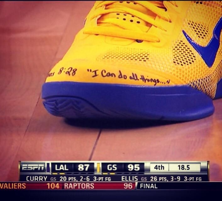 Steph Curry wrote his favorite verse on