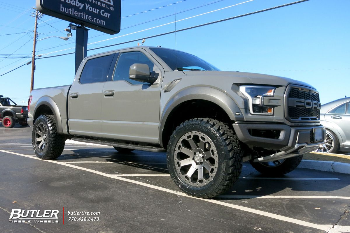 Ford Raptor With 22in Black Rhino Warlord Wheels Ford Trucks