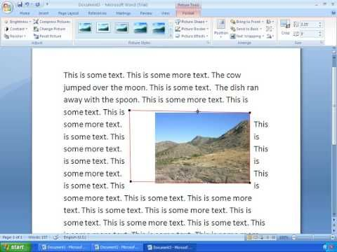 Word 2007 Tutorial 10 Working With Pictures Microsoft Word 2010 Words Word 2007