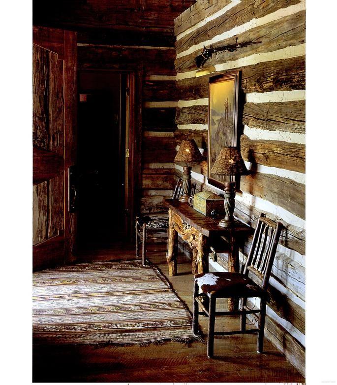 Very old refurbished log home in Montana