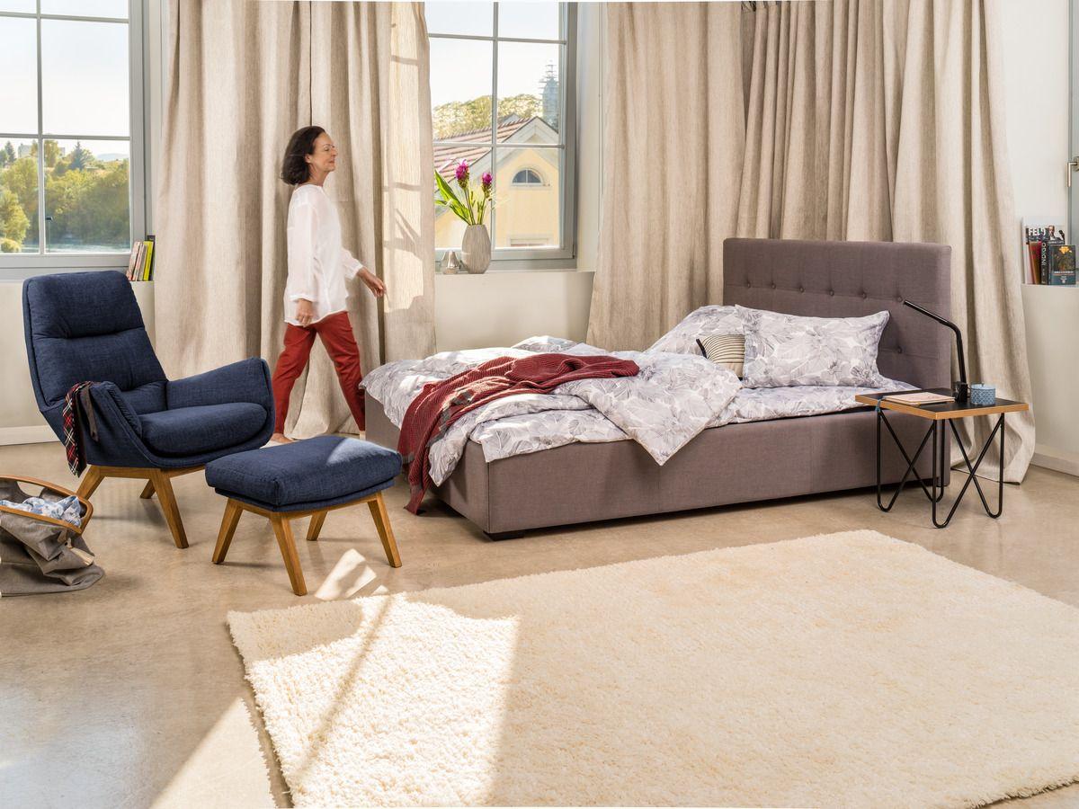 Micasa Schlafzimmer Mit Bett DUMONT, Schlamm (auch In Anderen Farben  Erhältlich) Und Sessel