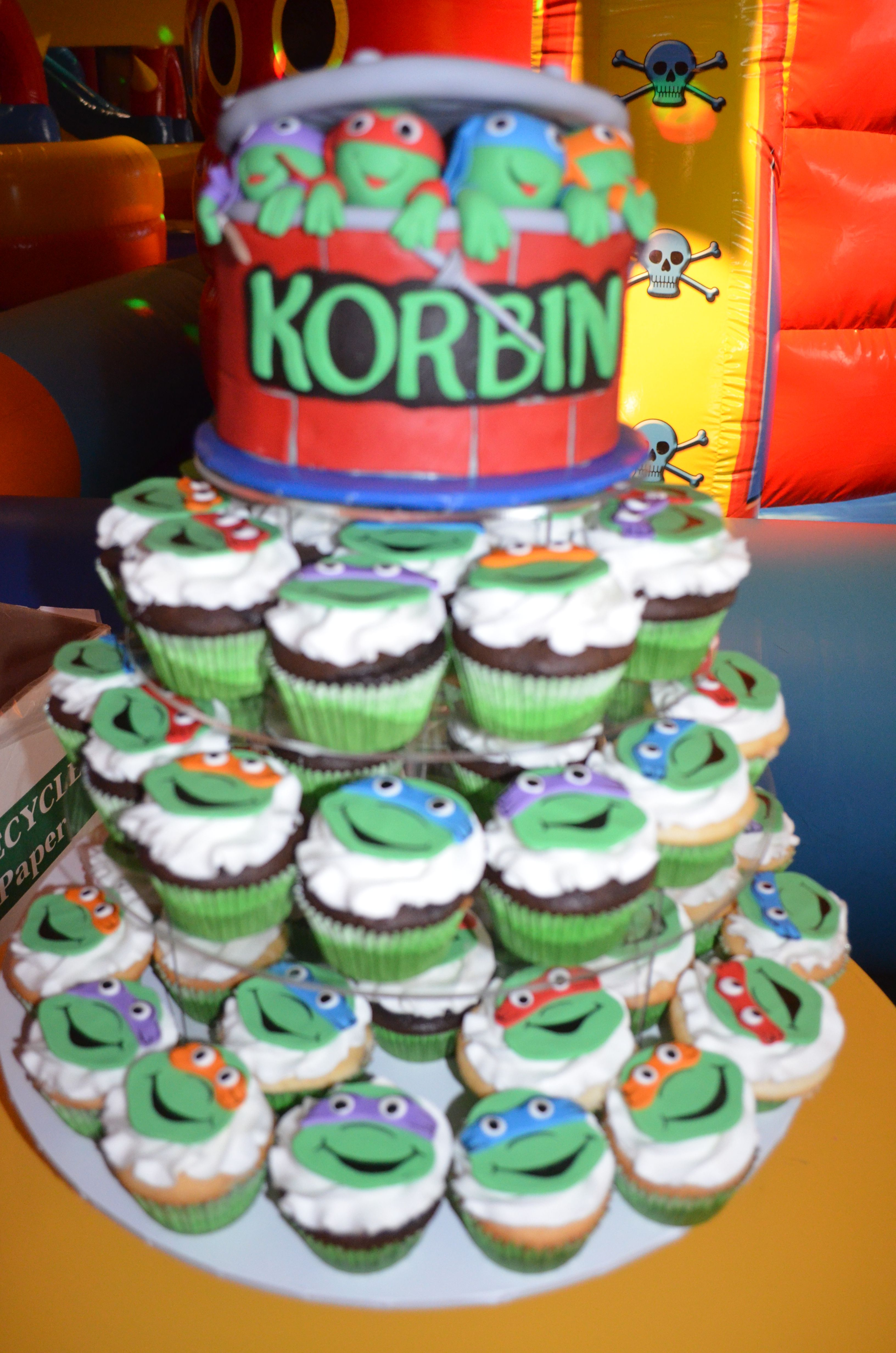 Teenage Mutant Ninja Turtles Birthday cake My Cakes Pinterest