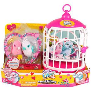 Little Live Pets Season 4 Love Birds with Cage Moose Toys