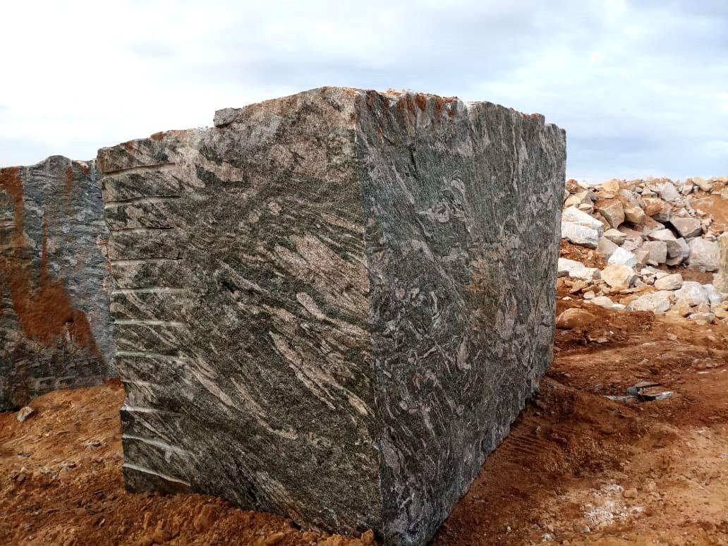 Kuppam Green Granite Block Extracted From Granite Quarry Granite Greengranite Block Quarry Design Architecture Granite Colors Granite Blocks Granite