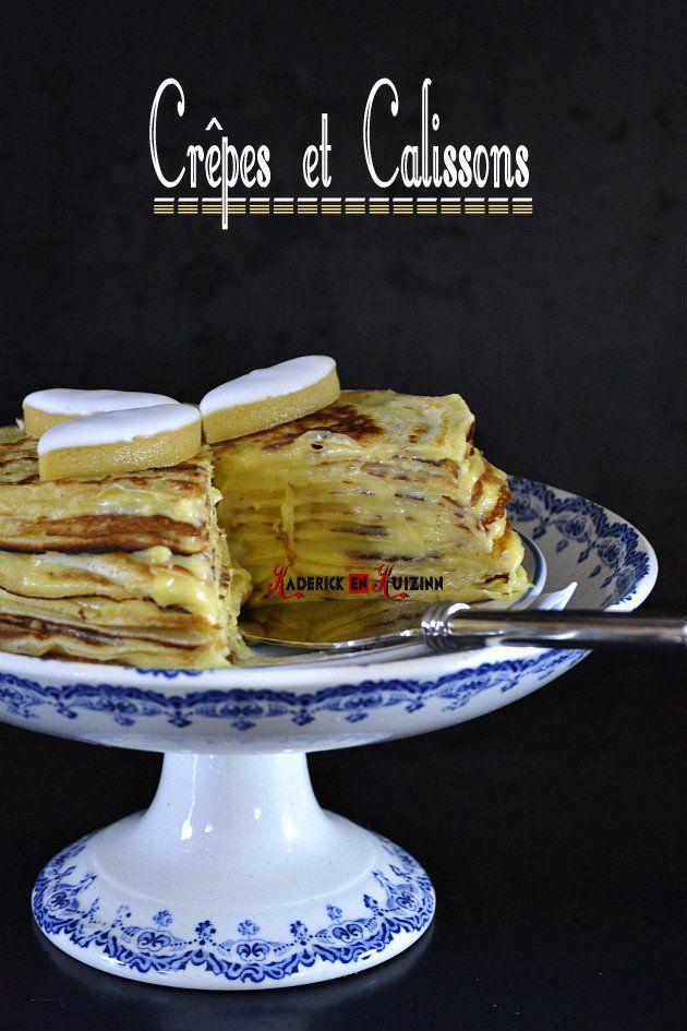 Dégustation du gâteau de crepes garnies de crème pâtissière aux calissons
