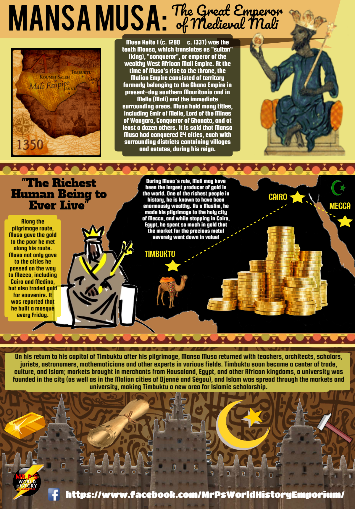 The Great Mansa Musa Of The 14th Century African Empire Of