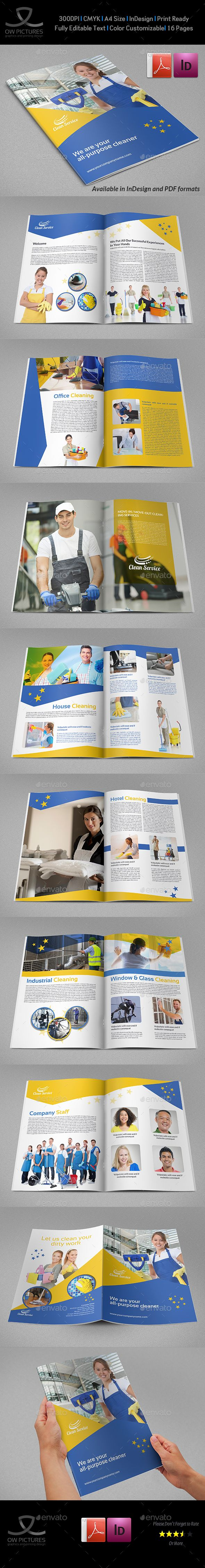 Cleaning Services Brochure Template 16 Pages Brochure
