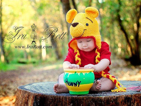 Handmade crochet Honey Bear Hat  Inspired for all ages.    $ 35.00 CAD