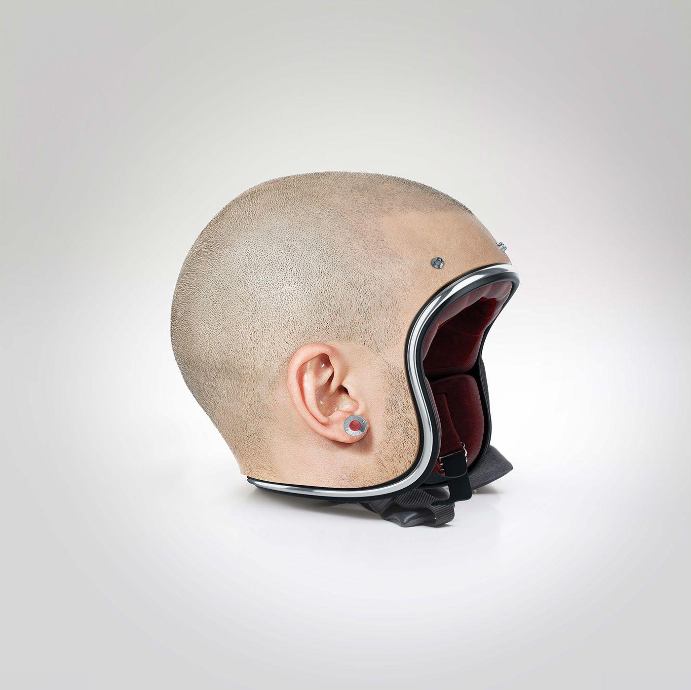 Creepy Helmets That Look Like Human Heads Suggest Flesh Is In