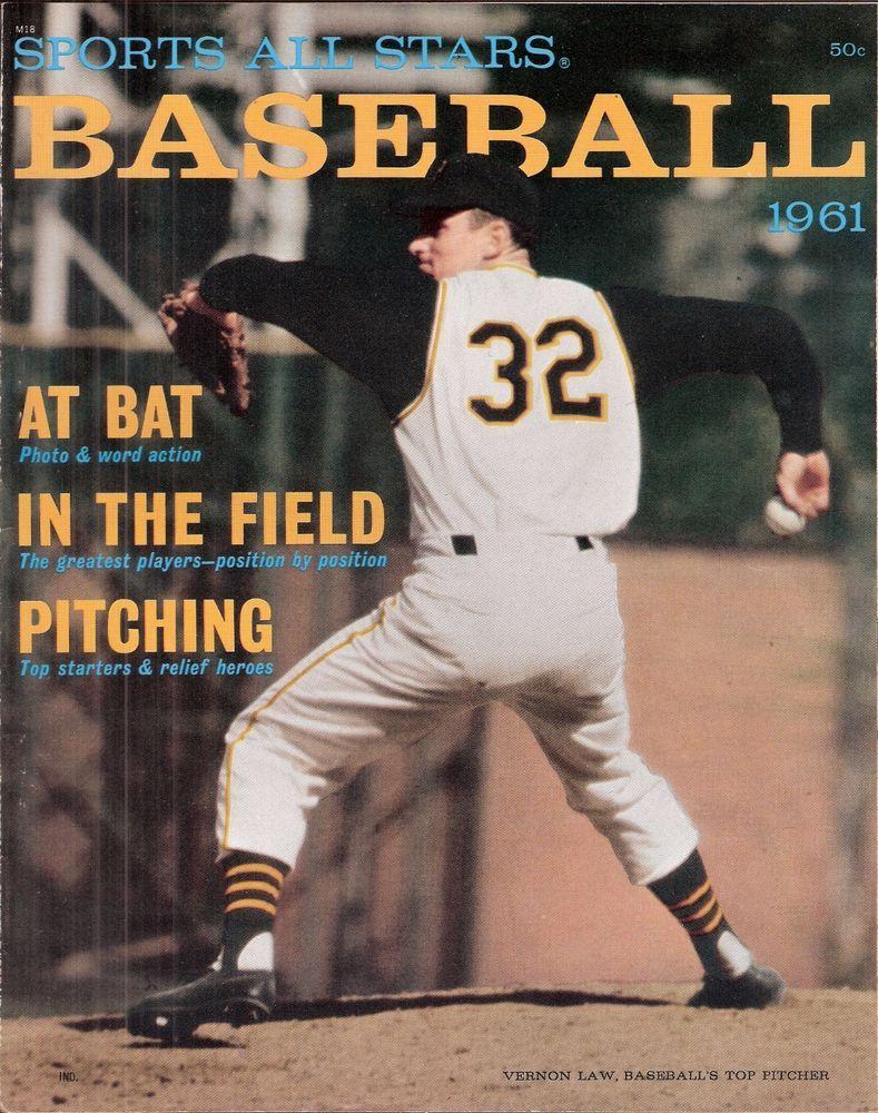 Sports AllStars Baseball (1961) Sports magazine, Sports