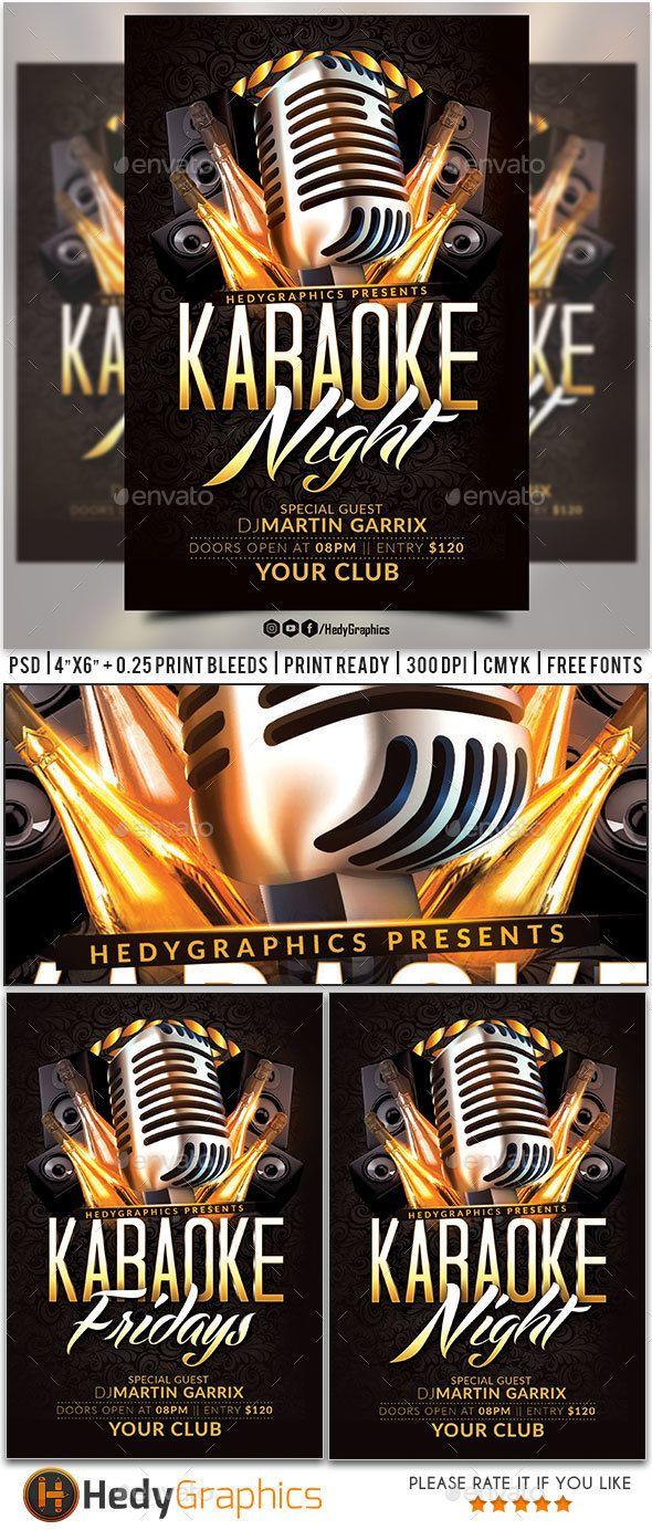 Karaoke Flyer Karaoke Flyer Template And Party Flyer