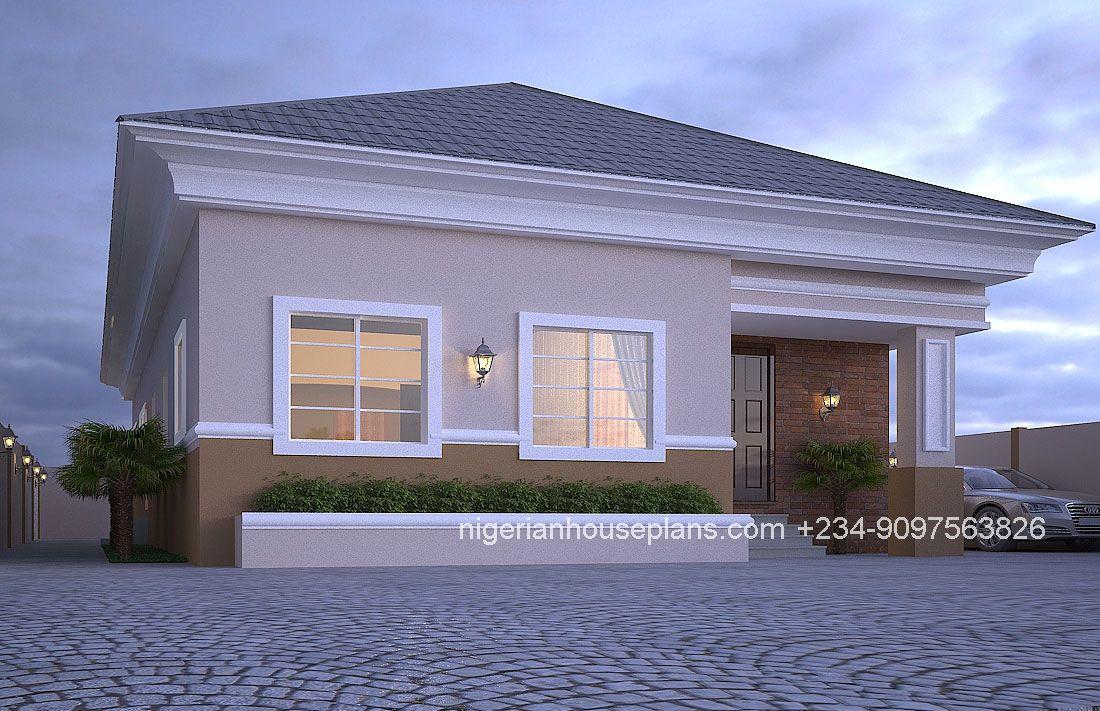 4 Bedroom Bungalow Ref 4012 Bungalow Design Bungalow House Plans House Design