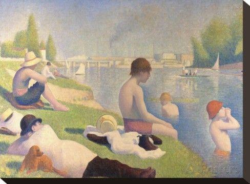 Georges Seurat; Asnieres'n kylpijät, 1884
