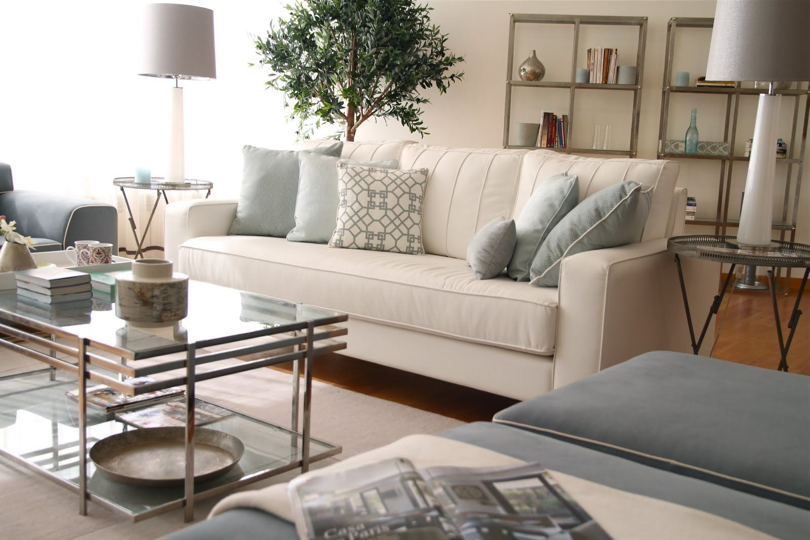 grey and beige living room. grey walls living room with grey and