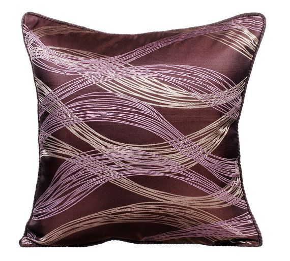 Decorative Purple Toss Throw Pillow
