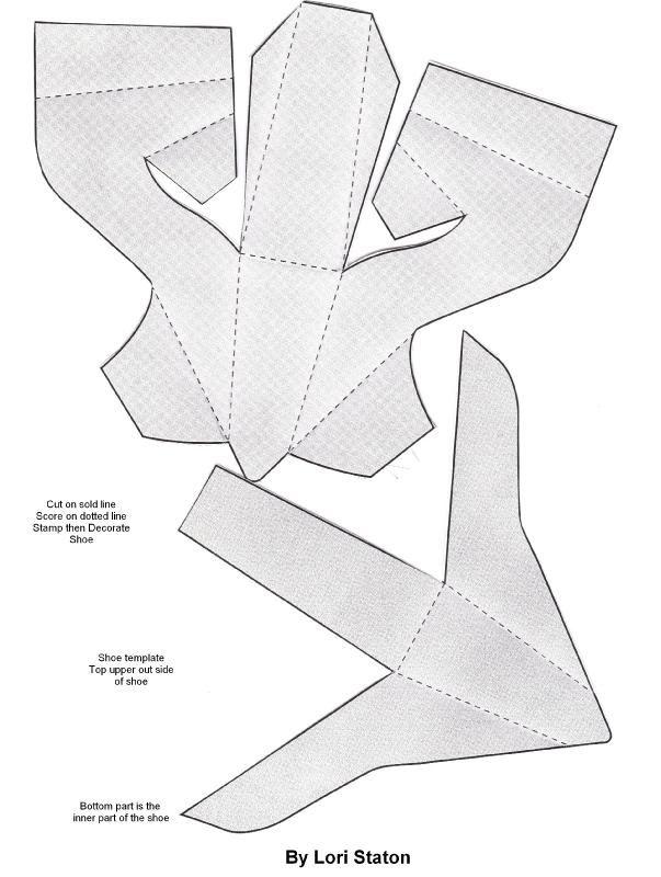 Открытки туфельки из бумаги, днем