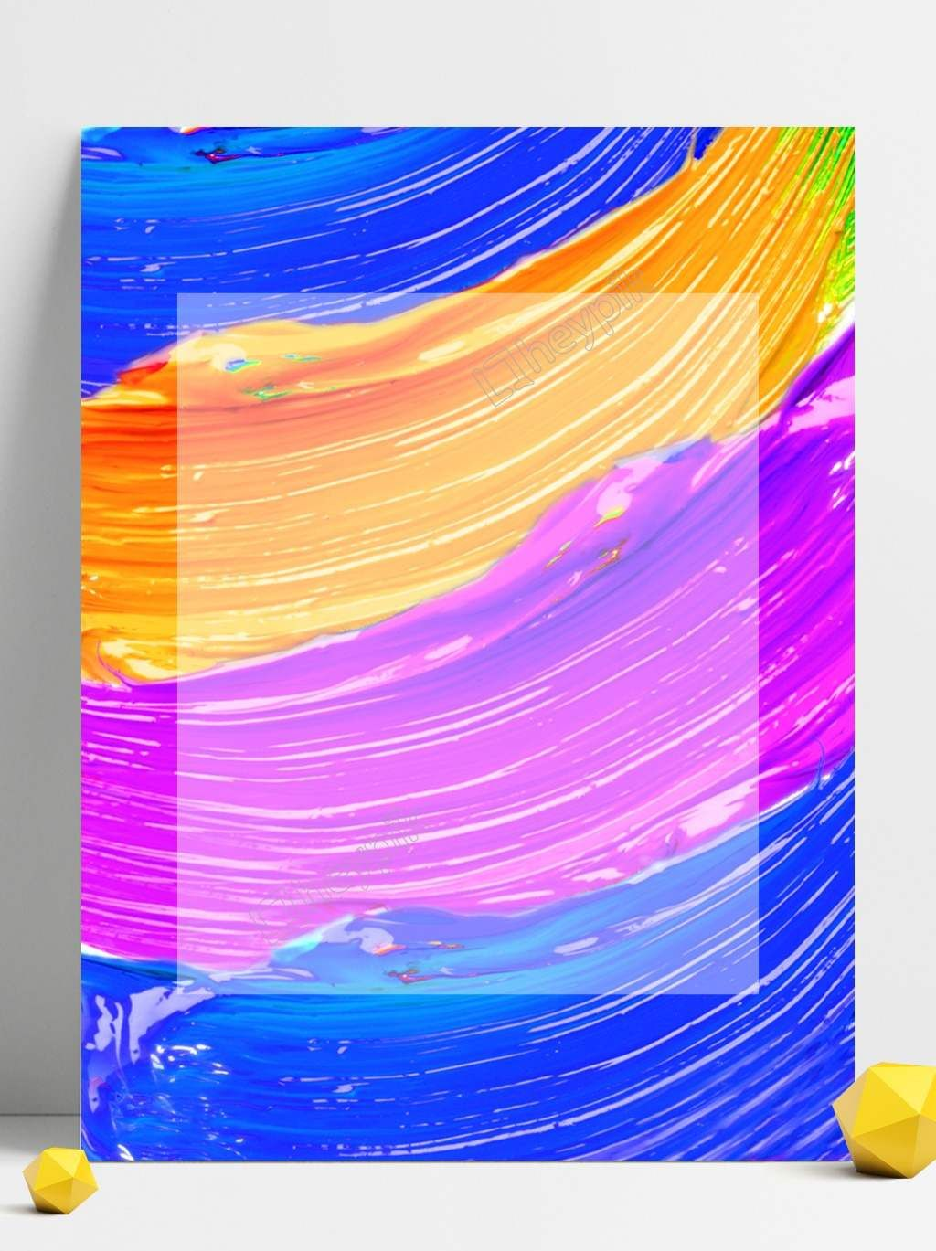 Colorful Paint Creative Colorful Paint Poster Background Design