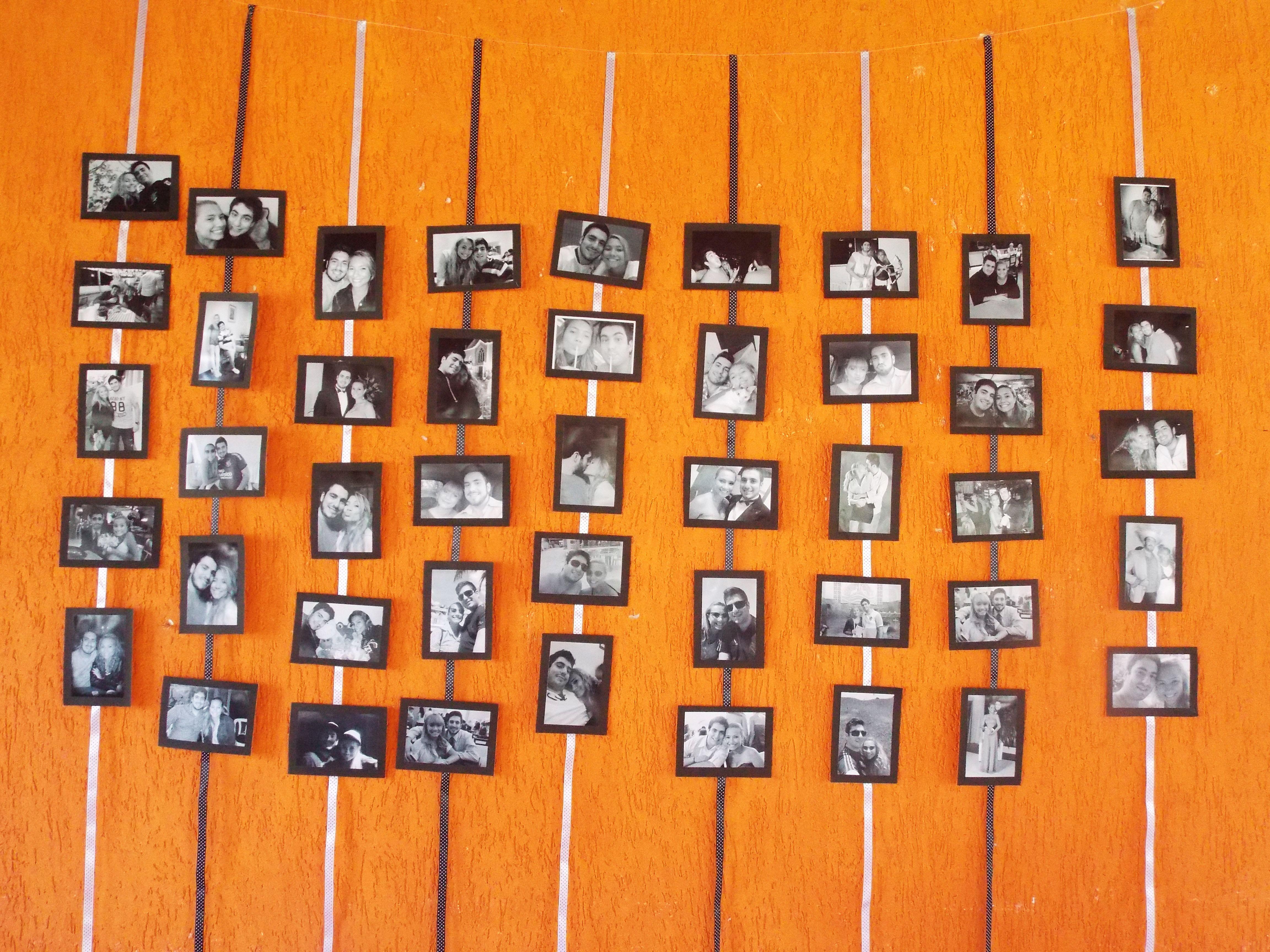 Closer look cortina de fotos fotos em preto em branco moldura de