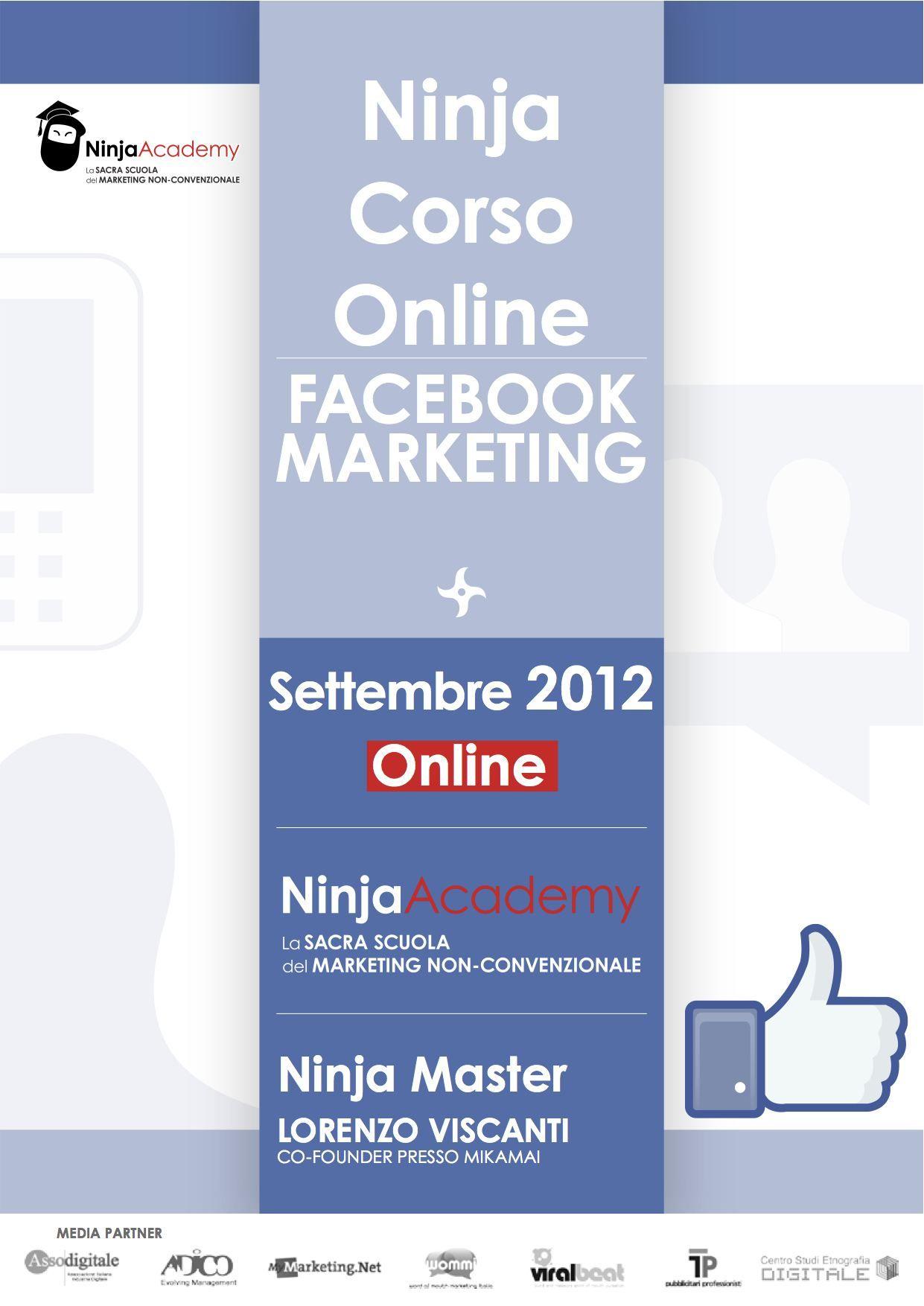 Corso Online in Facebook Marketing - Come progettare strategie di marketing a 360 gradi su Facebook