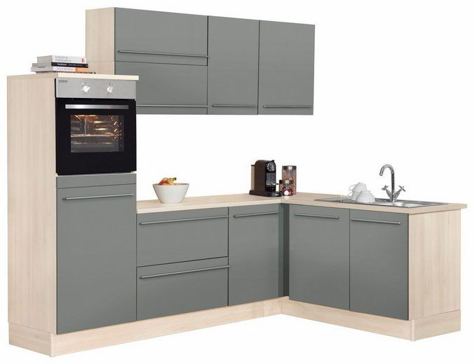 OPTIFIT Winkelküche ohne E-Geräte »Bern«, Stellbreite 255 x 175 cm - küchenblock ohne e geräte