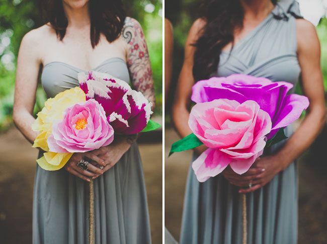 Handmade Paper Flower Wedding: Nata + Jess | craft - crepe paper ...