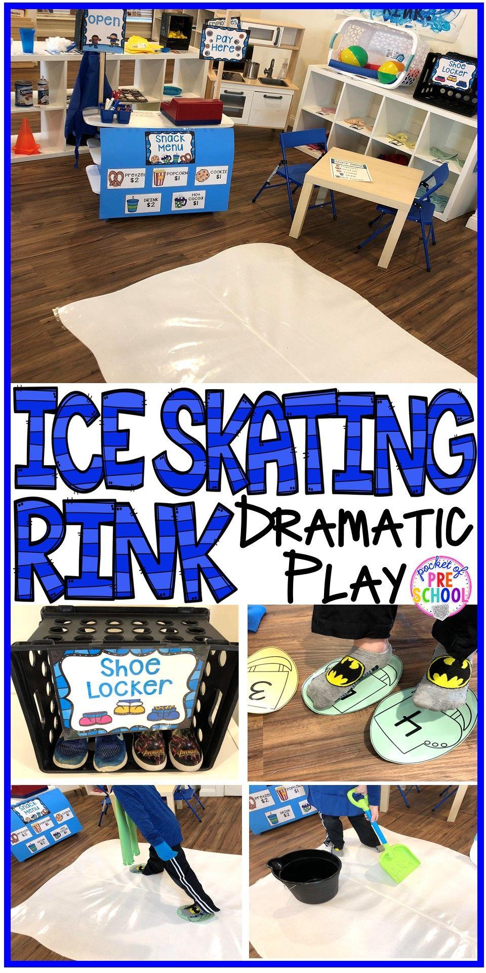 Ice rink dramatic play for preschool prek
