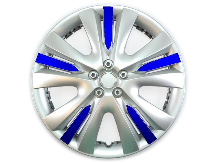Bunt farbige folierte Auto Radkappe - Radblende Lexis | Bunte Auto ...