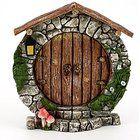 """Top Collection 5.25"""" Miniature Fairy Garden & Terrarium Charming Round Door Decor, Small"""