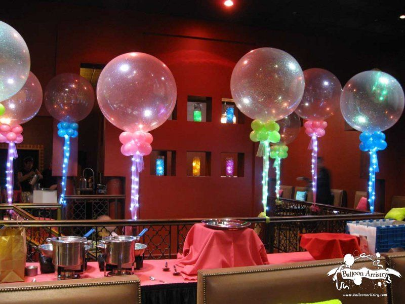 Sparkle balloons with tulle and lights want need