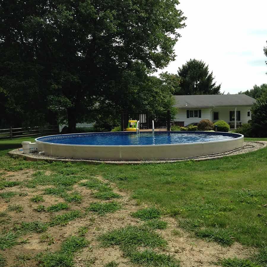 Semi Inground Pools Baltimore Annapolis Amp York Backyard