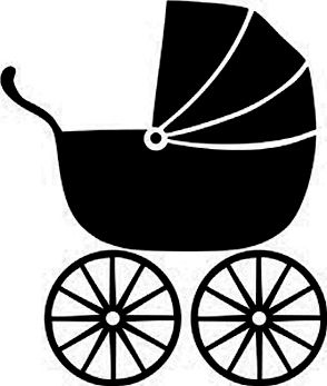 Pin By Regina Brooks On Silhouette Bw Baby Silhouette Baby Clip Art Clip Art
