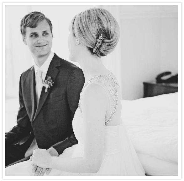 Jennifer Behr Emma barrette :: updo :: french twist :: pouf :: wedding :: bridal :: hair :: hairstyle ::