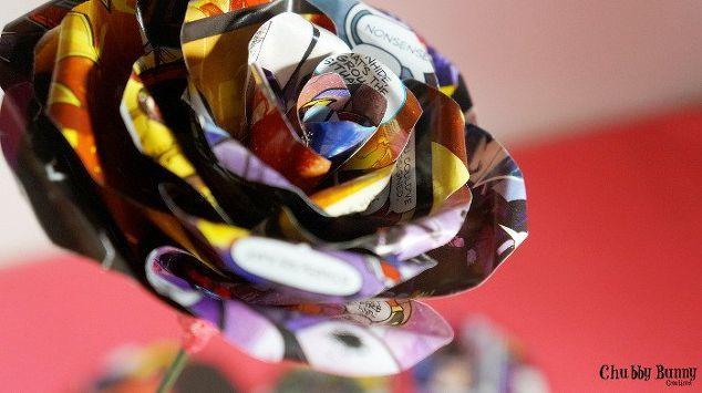 comic book flower, crafts, flowers