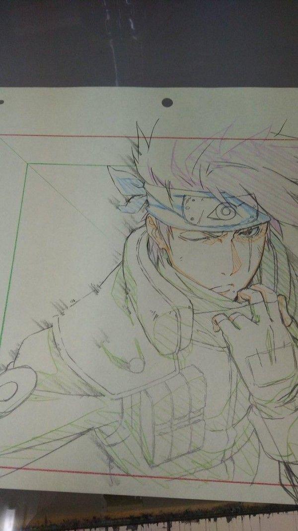 Naruto Kakashihatake Dessin Chamarusaku Crayondecouleur Manga