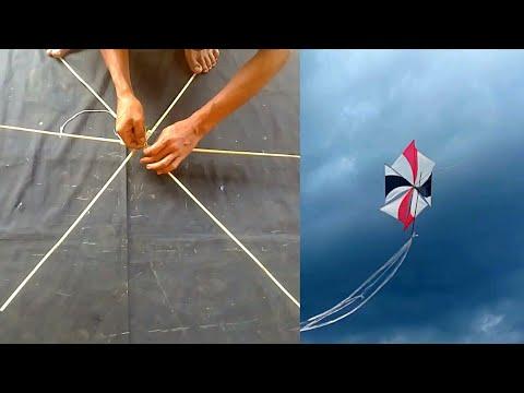 How To Make Rotor Kite Layangan Gasingan Youtube Kite Making Kite Bird Kite