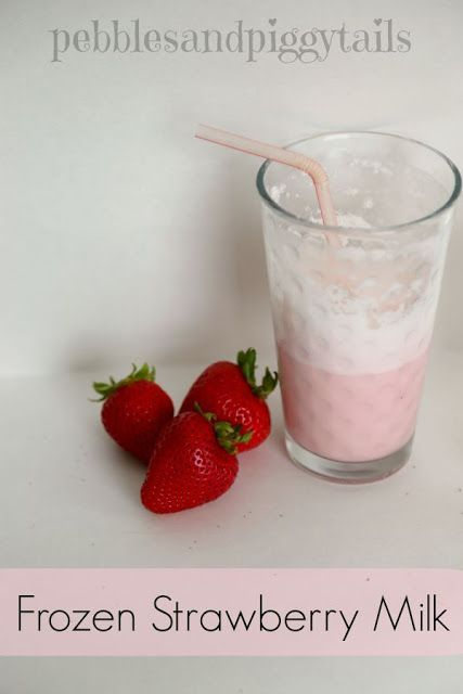 Frozen Chocolate Milk and Frozen Strawberry Milk.  Great after school snack or summer treat!