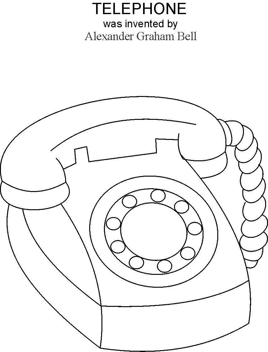 Telephone Coloring Printable Page Free Coloring Pages Easter Coloring Pages Coloring Pages