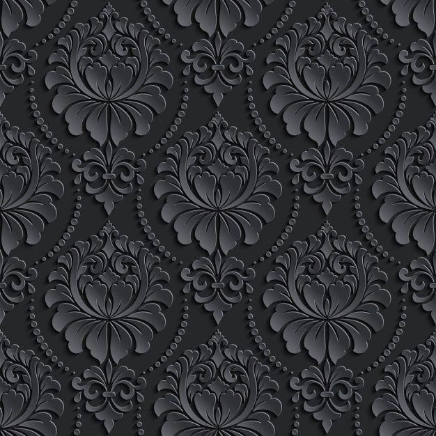 Black Vintage Pattern Design Black Wallpaper Samsung Wallpaper Galaxy Wallpaper