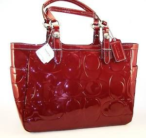 c6e848c3d2 red patent leather coach purse - This one is a joke but isnt that so  pretty